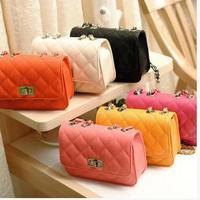 Women Candy Color Mini Shoulder Bag-- Mini Chain Shoulder Bag