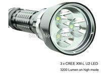 Camp Flashlight with 3pcs CREE XM-L U2 LED