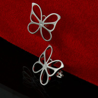 2014 Hot Sale 925 Silver Free Shipping New Style Fashion Woman Jewelry Bowknot Stud Earrings Top Quality Wholesale EH160