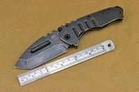 FREE SHIPPING Medford karambit Praetorian Folder Black Stonrwash Plain Blade Stainless Steel Handles Knife