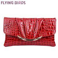 FLYING BIRDS! free shipping  women clutch pu leather crocodile pattern Women shoulder messenger bags evening bag  LS3750c