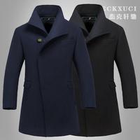 free shipping 2014 winter new men's casaco masculino woolen outwear for men fashion manteau homme desigual high quality coat