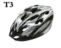 Cycling Bicycle Adult Bike Safe Helmet Carbon Hat With Visor 19 Holes  silver  color