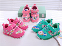 2014 New Fashion Children Girls Flower Floral Breathable Casual Shoes Kids Anti-slip Sports Running Sneakers Retail Boots