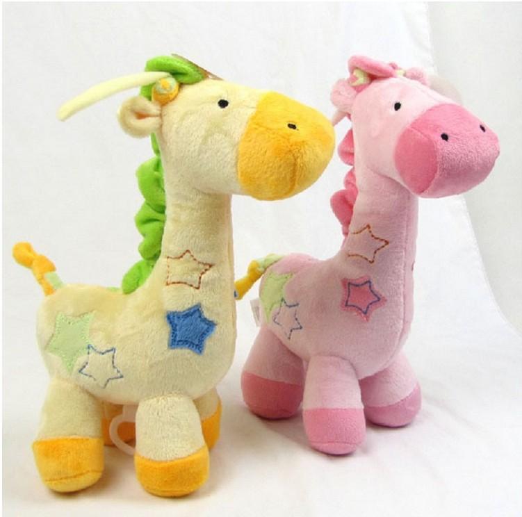 Grátis frete bebê educação cama em torno do celular de brinquedo de pelúcia Musical bebe criança brinquedos infantis de Carter giraffe Wrist Rattle(China (Mainland))