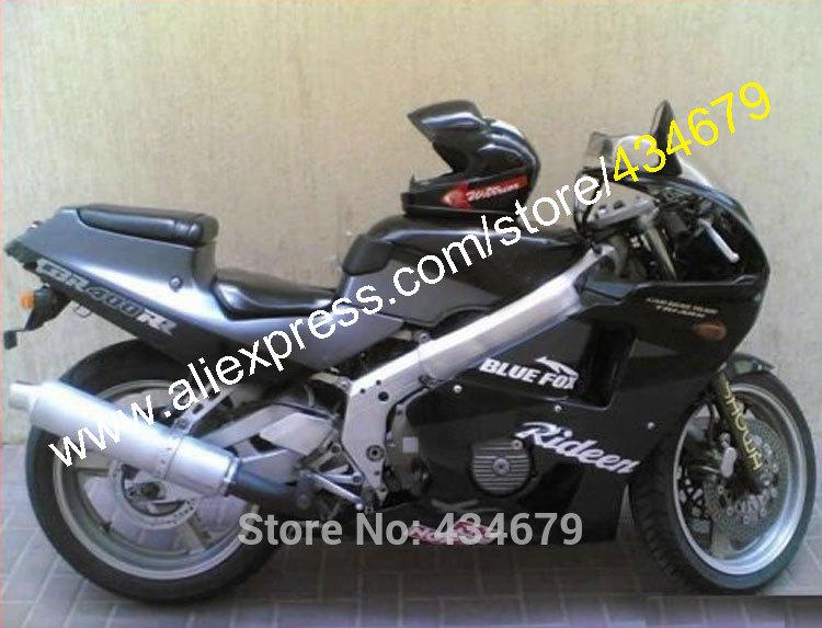 Hot Sales,For HONDA CBR400RR NC23 1987 1988 1989 CBR400 CBR 400 RR 87 88 89 BLACK & DARK GRAY Motorcycle Fairing kit(China (Mainland))