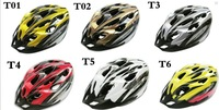Safe Helmet Carbon Hat With Visor 19 Holes red and yellow  color Cycling Bicycle
