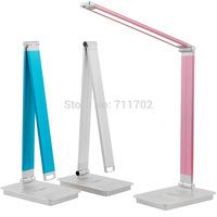 Modern Aluminum Folding 9W LED Desk Lamp Touch Switch Dimmer LED Table Lamps sliding dimming Desk Light 3pcs/lot DHL Free