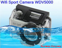 2015 New 5.0MP Full HD 1080P DV WDV5000 Underwater Action Sport Camera CAM WiFi DV Camcorder WDV5000 Freeshipping