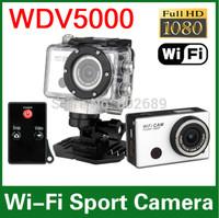 2014 Sport Camera 5.0MP Full HD 1080P Underwater Action Camera CAM WiFi DV Camcorder WDV5000 Waterproof Camera Mini DV Freeship