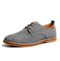 New 2014 Suede Genuine Leather Shoes Men's Oxfords Casual Loafers Sneakers For Men Flats Shoes