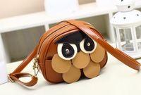 2014 fashion owl women messenger bag fresh and mixed colors shoulder bag vintage lovely girls zipper messenger bag