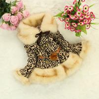2-6 Years Girl Faux fur leopard coat for girls coat jacket for girls coats girl reima kids parka snowsuit park roupas meninas