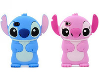3D Cartoon Stich Silicon Case Cute Silicone Cover For iPhone 5 5S Cases Fashion Stitch Back Housing for iPhone 4S 4 4G