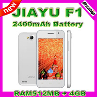 2400mAh Long Standby Jiayu F1 F1W Mobile phone ROM4GB MTK6572 Dual Core 4inch Capacitive Touch Dual Sim 3G WCDMA Android4.2