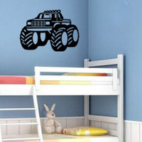 Children Car Four-wheel drive Home Art New Living room Pattern decoration wall sticker Removable Eco-friendly PVC Free shipping