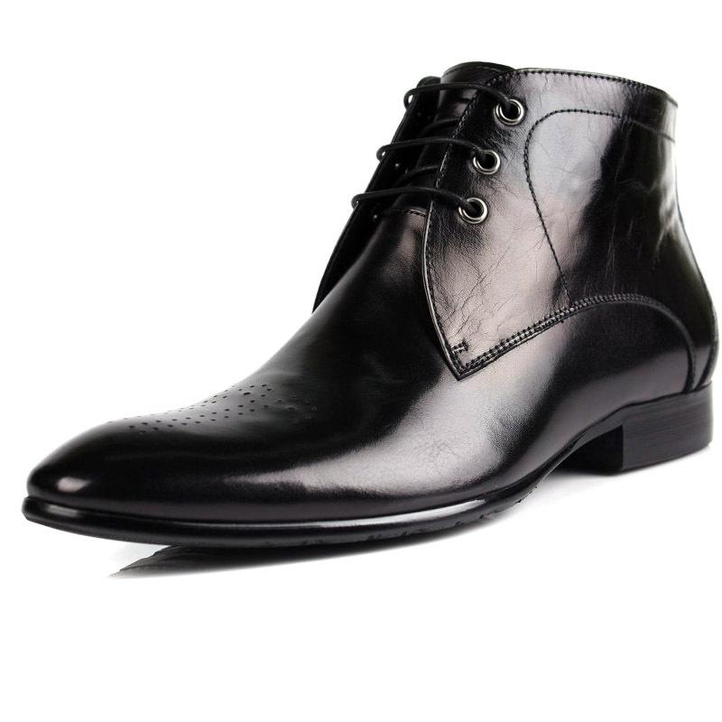 mens winter dress boots black dress uk