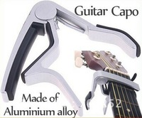 Ebay Hot Sale!!!Guitar Capo.Made of Aluminium alloy Silver or Black color with Retail package Free Shipping