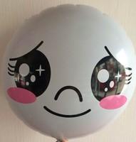 2014 new style 50pcs Cartoon expression Decoration foil balloon Children's birthday theme decoration toys party balloons