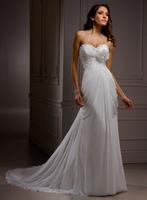 A-line chiffon floor length informal bridal gown A3548