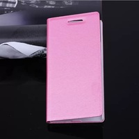 New Arrival Huawei Ascend P7 Case MSVII series Ultra thin Leather flip cover for Huawei P7 back case