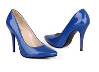 Woman Patent Leather Pumps High Heels Shoes Blue Red Beige Black Pumps Big Size Plus Size Pumps