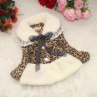 2-6 Year Girls cotton sweater jacket leather leopard fur coat jackets winter coat reima kids parka snowsuit roupas meninas
