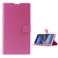 2014 New Fashion Leather Silk Pattern Case bag  for Sony Xperia Z1 L39h Simplicity with Card Slot Original