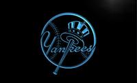 LD122- NY New York Yankees Bar Club Neon Light Sign  hang sign home decor shop crafts led sign