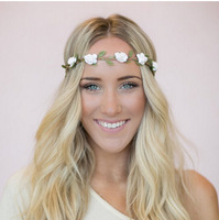 2014 NEW Flower Crown Women elastic Headband girls tiaras and crowns hair band floral bohemian hair accessories