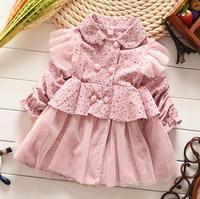wholesale 4pcs/lot gril's clothes long sleeve prints princess coat baby clothes ,kid dress coat