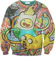 New 2014 men women's winter autumn hoodies Creative CARTOON Adventure print sweatshirts pullover CUTE women tops S-G2
