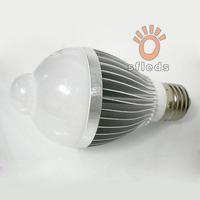 Free shipping(2pcs/lot) 5W/7w Aluminum light lamp bulb e27 base 85-265v led infrared motion sensor bulb
