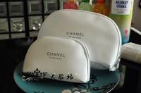Whosale 2pcs/lot White 2014 Top Quality Brand Snow Zipper Patent Leather Women Make Up Storage Cosmetic Handbag Makeup Case