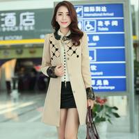 casacos femininos limited batik full sobretudo winter coat fashion women 2014 new korean winter long section of overcoats #5179