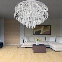 free shipping D60 cm led gu10 Guarantee K9 crysta  High quality modern luxury led lighting crystal ceiling light