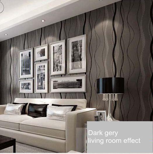 grey stripe wallpaper reviews online shopping grey. Black Bedroom Furniture Sets. Home Design Ideas