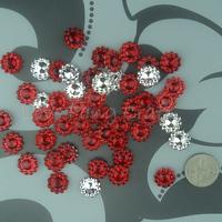 Free Shipping 1000 Red 11mm Acrylic Sunflower Rhinestone Bead Craft  Accessories DIY Scrapbooking Favor