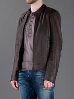Free shipping Size M- XXL 2014 luxury brand imported Italian washed PU men leather fashion stand collar leather jacket MWJ13014
