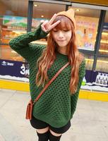 New arrival sweater female plus size loose sweater female yarn