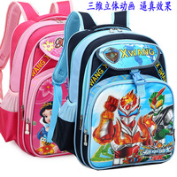 Primary school students school bag cartoon backpack child school bag stereogram