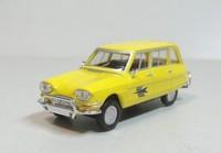 "herpa 1:87 Citroen Ami6 Break diecast car model H.O.Scale ""yellow"""
