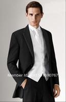 Free shipping / custom design cheap black dress notched lapel groom wore dresses Men's / men's wedding dress / groomsman suit