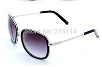 Glasses Women sunglasses circle metal fashion sun-shading mirror women's big frame glasses