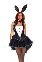 2014 New summer  arrival casual party bodycon  lace fashion uniform temptation club mini mesh The sexy rabbit maid Set