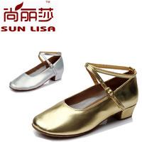 New Fashion Brand New PU 3.5cm Heel High Kids' Girl's Children's Women's Ladies Latin Ballroom Salsa Dance Shoes WZSP 609