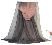 Oumeina Fashion Accessory Woman Scarf: voile 2 TONES gradient plain dyed,batik,Muslim Arabic hijab shawl warp WJ133