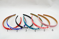 Trail order 1.5cm satin covered headwear children & adult 6 colors headbands hair accessries 50pcs/Lot