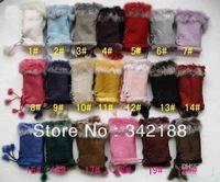 2014 2014 30pair Christmas gift Christmas fur mittens hand