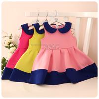 7675-TS6013 Kenichiro still Korean children's clothing wholesale girls cotton vest dress lapel air